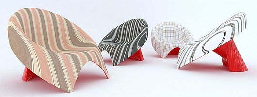 Chaise lounge chairs inspired by tie by Velichko Velikov 1 Chaise lounge chairs inspired by tie by Velichko Velikov