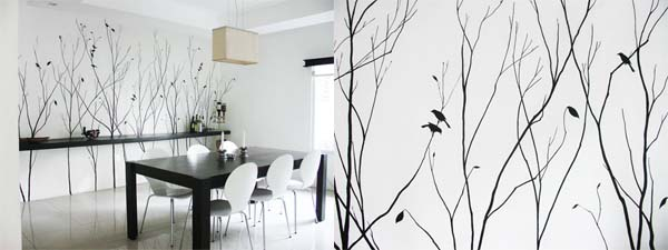 Home wallpaper or painting home walls 1 Home wallpaper or painting home walls