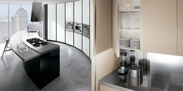 Kitchen with elegant and metropolitan concept from Ernestomeda 1 Kitchen with elegant and metropolitan concept from Ernestomeda   ElektraVetro kitchen series
