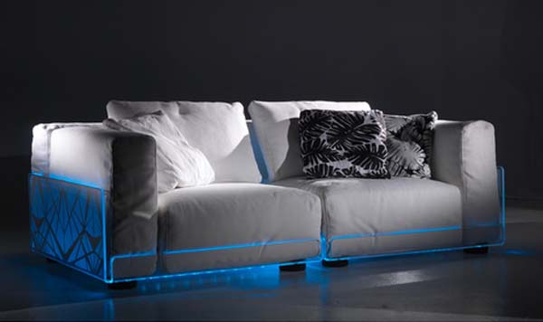 Modern lighting sofa for home theater rooms for Canape home cinema