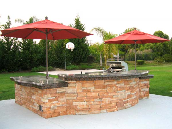 Outdoor kitchen design for barbeques or whatever you like for Easy outdoor kitchen designs