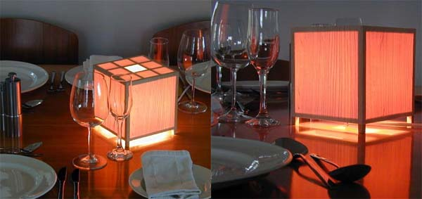 Table lamps with Japanese style ornaments by Davin Larkin 1 Table lamps with Japanese style ornaments by Davin Larkin