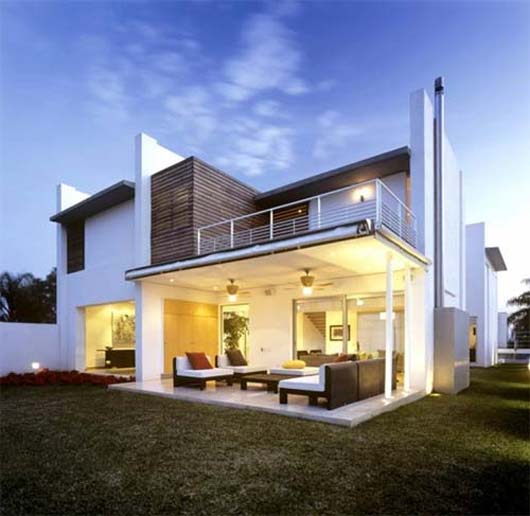 Three levels of house renovation with modern contemporary style by