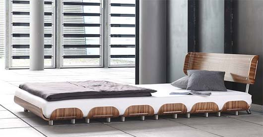 Tiefschlaf zebra wood bed from Stadtnomaden 1 Bed for your couple or bed for couples bedroom   Tiefschlaf bed from Stadtnomaden