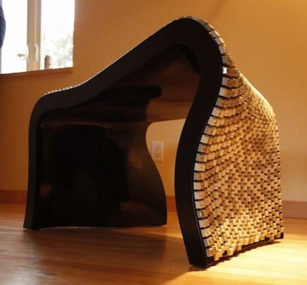 Wolfgang Keyboard Bench by Nolan Herbut 3 Wolfgang Keyboard Bench   eco friendly bench from keyboard