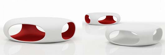 pebble open table design by Matthias Demacker 1 Pebble table by Matthias Demacker   openings table give multifunction aspect