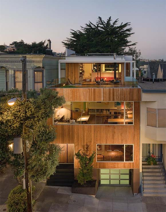 Beaver Street Reprise in San Francisco California design by Craig Steely architect 1 Conceptually modern house in San Francisco, California by Craig Steely architect
