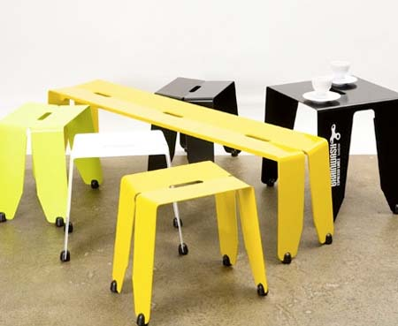 Brainwash Stools table and bench from Luxxbox 1 Brainwash   Stools, table and bench from Luxxbox