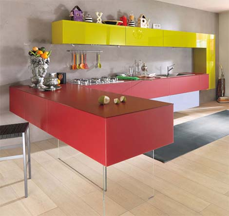 Creative kitchen designs by Lago 1 Creative kitchen designs by Lago   youll never get bored in the kitchen