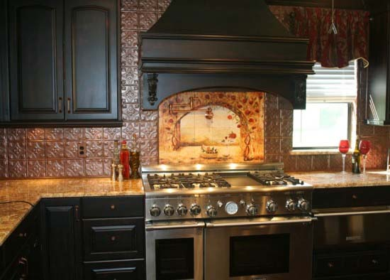 Kitchen backsplash ideas inspired by natural beauty from linda paul Kitchen backsplash ideas pictures 2010