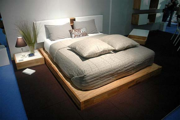 Lax wall mounted headboard and platform bed set from mash studios 1