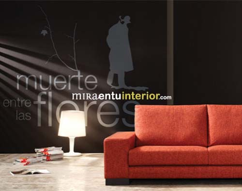 Modern decorative wall decals from Miraentu Interior 1 Wall decals   Modern decorative vinyl wall decals from Miraentu Interior