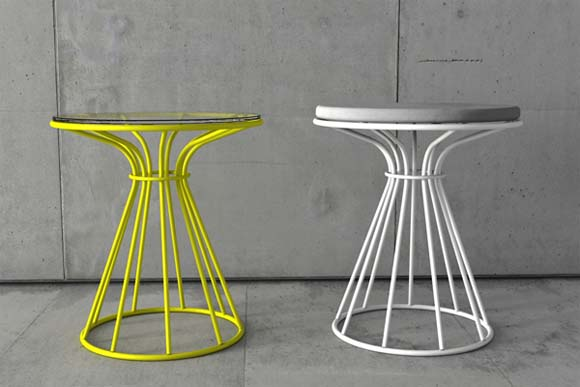 sirio coffee table with colorful painted steel structure from dzstudio. Black Bedroom Furniture Sets. Home Design Ideas