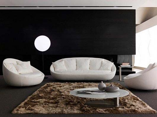 The new elegant comfy sofa set for modern living room by for Modern sofa set designs for living room