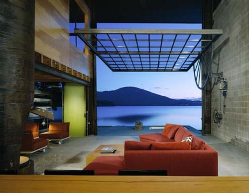 Chicken Point Cabin by Sundberg Kundig Allen Architects 1 Big window for Chicken Point Cabin by Sundberg Kundig Allen Architects