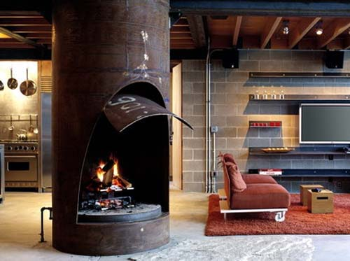 fireplace for cabin