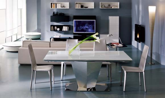 Diamante Dining Table from Ozzio Design 1 Dining Room Table Sets   Diamante Dining Table from Ozzio Design