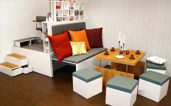 Multifunctional Furniture Small Room Design Idea Part 65