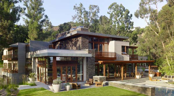 Mandeville canyon Residence is desgined by Rockefeller 1 Mandeville Canyon Residence by Rockefeller in Los Angeles, CA
