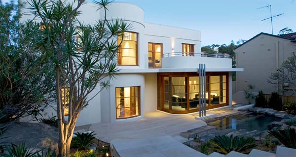 A Modern Art Deco Home Visualized In Two Styles: Spanish Art Deco House