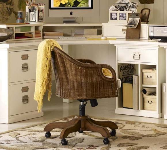Wingate Desk Chairs Cushions from Pottery Barn 2 Office Chairs to add a warm ambience into your office   Wingate Desk Chairs Cushions from Pottery Barn