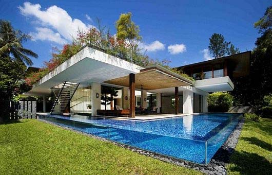 L shaped homes design - Home design