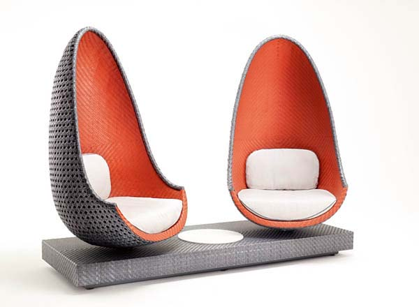 Contemporary Play Lounge Chair inspired by shape of eggs from Dedon 1 Contemporary Play Lounge Chair inspired by shape of eggs from Dedon