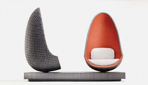 Contemporary Play Lounge Chair inspired by shape of eggs from Dedon 4 Contemporary Play Lounge Chair inspired by shape of eggs from Dedon