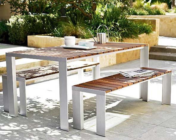 Solid Teak OutdoorPatio Dining Table By Jesús Gasca - Solid teak outdoor table