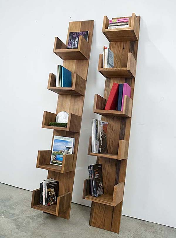 Bookshelves Furniture made of Reclaimed Redwood by Deger Cengiz