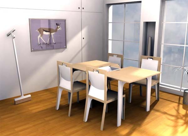 Modern Extendable Dining Table plans from Iohanna Pani 1 Modern Extendable Dining Table plans from Iohanna Pani