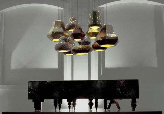 Lampshades chandelier