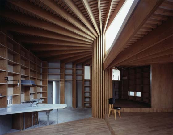 Unique room interior design by mount fuji architects in tokyo for Unique house interior design