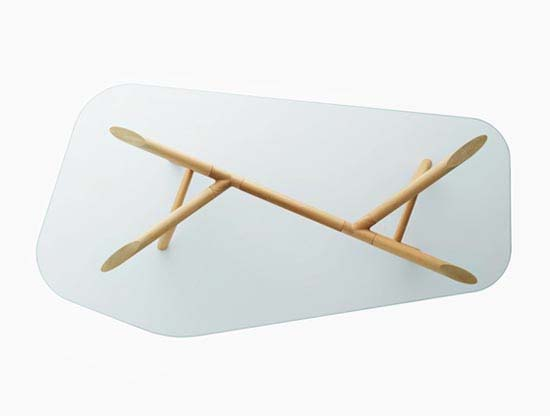OTTO Glass Top Table by Paolo Cappello 1 OTTO Glass Dining / Office Table from Paolo Cappello