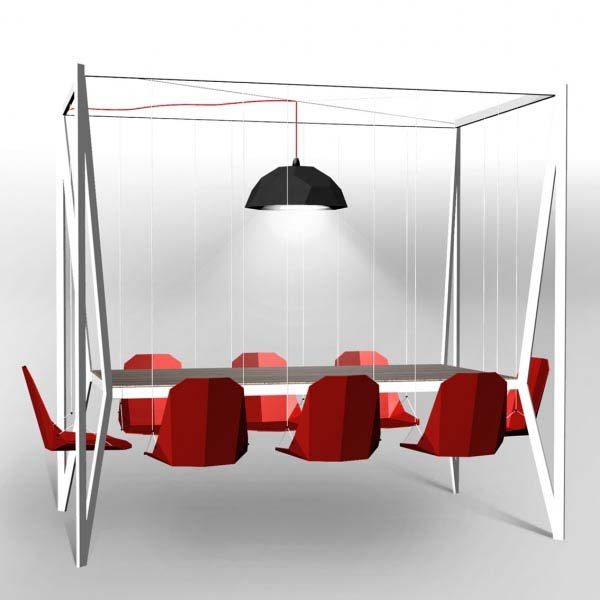 Swing Table from Duffy London 1 Swing Dining Room Table and Chairs from Duffy London