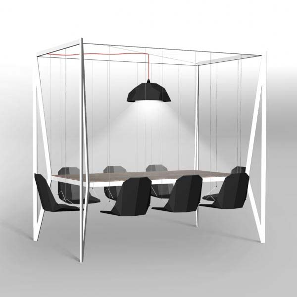 Swing table and Chairs