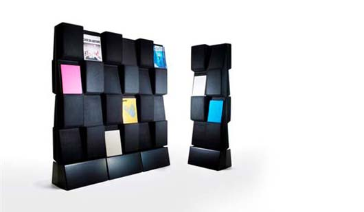 Window magazine display rack by Jonas Forsman 2 Nice Rack Design which can function as a Silencers or Room Divider