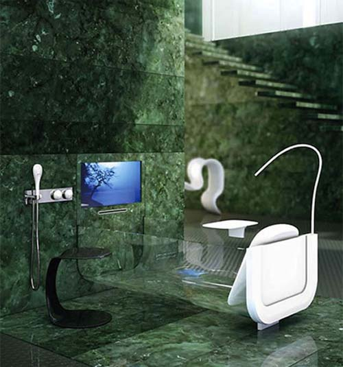 Allos Italian Glass Bathtub from Glass Idromassaggio 1 Allos Italian Glass Bathtub from Glass Idromassaggio