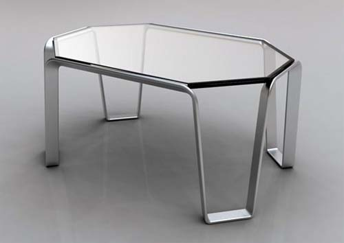 Edgewire Glass Table