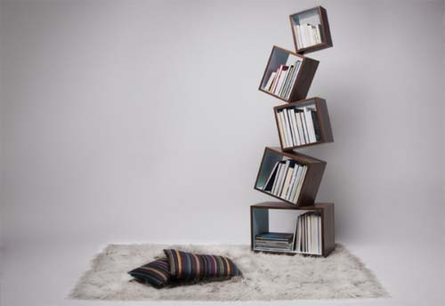 Equilibrium Bookcase by Malagana Design 2 Easily assembled Bookcase by Malagana Design   Equilibrium Bookcase