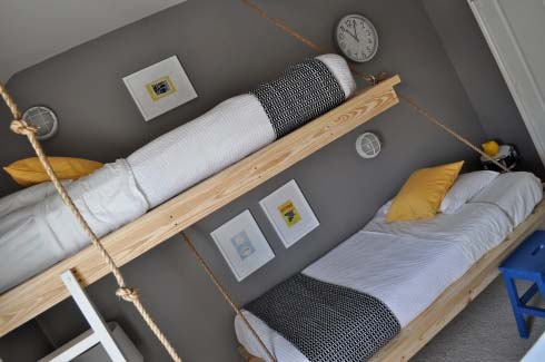 DIY Hanging Beds from The Bumper Crop 4 DIY Hanging Beds for Stylish Boys Bedroom Designs