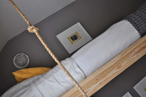 DIY Hanging Beds from The Bumper Crop 6 DIY Hanging Beds for Stylish Boys Bedroom Designs