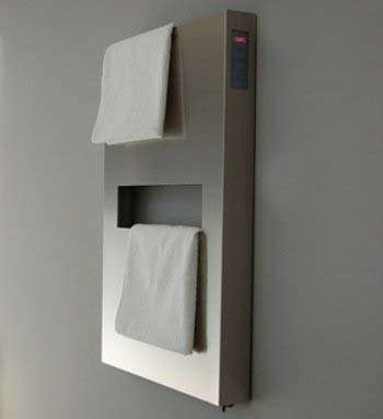 Elory Towel Warmers by Emmesteel 1 Elory Towel Warmers for Modern Minimalist Bathroom Designs