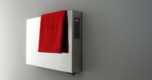 Elory Towel Warmers by Emmesteel 2 Elory Towel Warmers for Modern Minimalist Bathroom Designs
