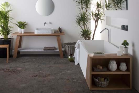Latis bathroom collection 1 Minimalist Bathroom Decorating Ideas from Omvivo