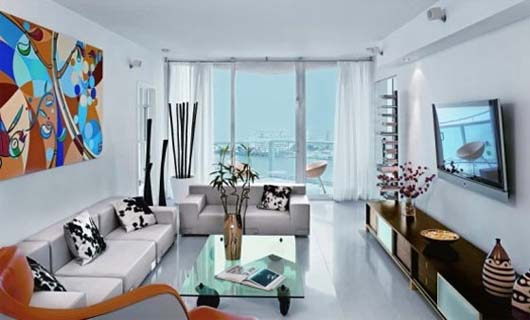 Smooth colors in Decorating the Apartment Interior in Miami