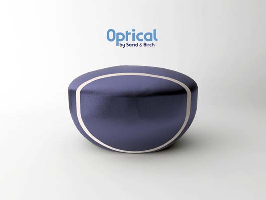 Optical pouf 1 Fashionable Optical pouf from Sand & Birch