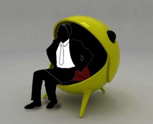 Pacm Chair Inspired By Pacman Game By Jose Jorge Hinojosa