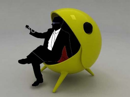 Pacm Chair Inspired By Pacman Game By Jose Jorge Hinojosa Primo