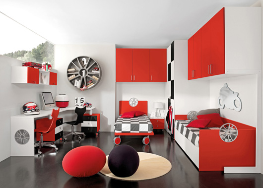 Sport Motors children's bedrooms